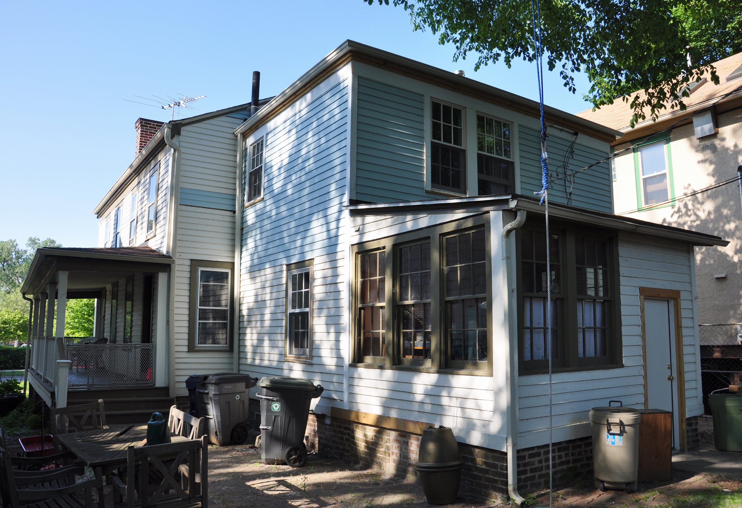 1850s federal-style house, historic preservation, historic landmark, residential renovation, contextual design