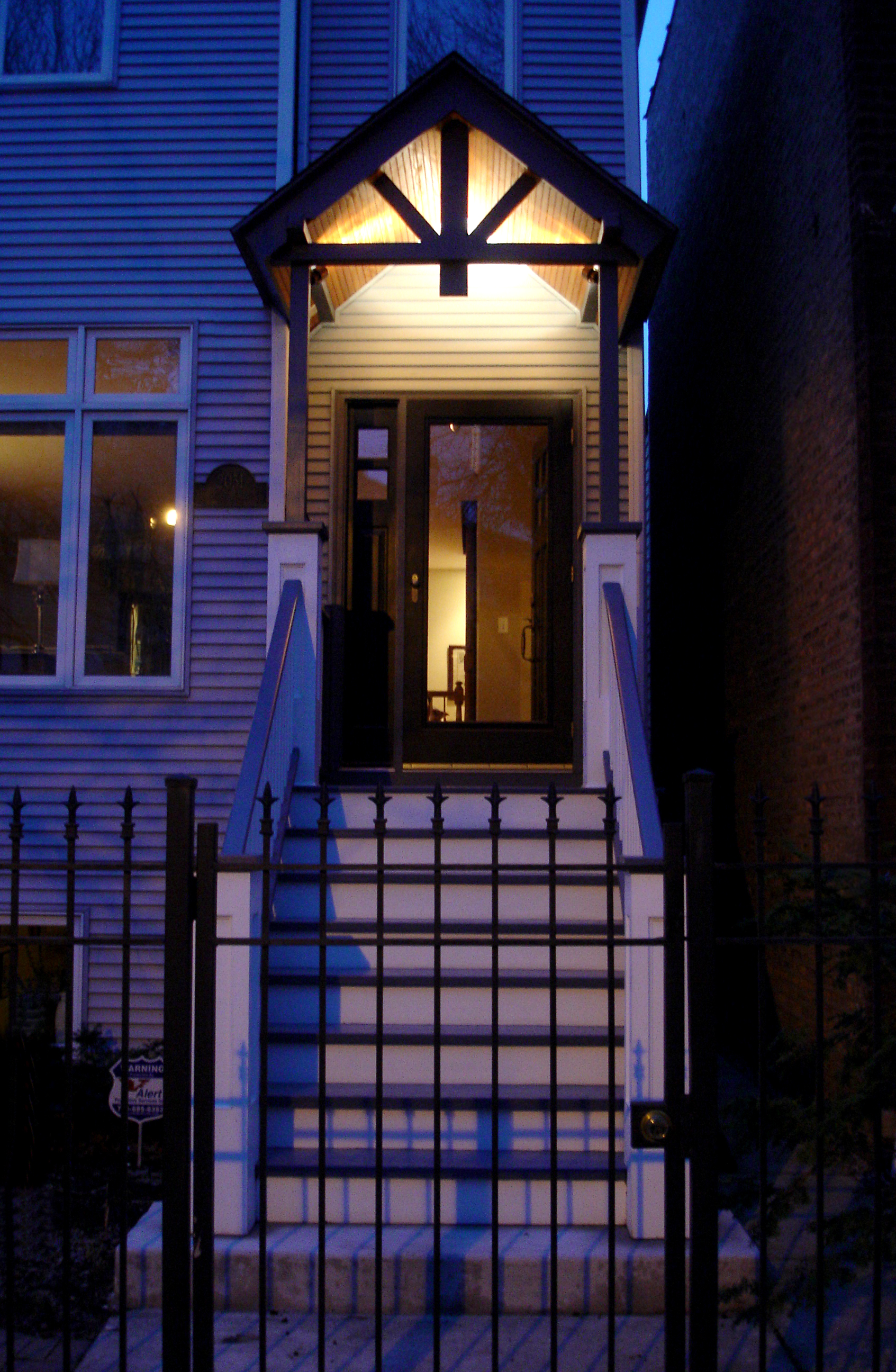 custom residential renovation redesign porch deck, front entrance