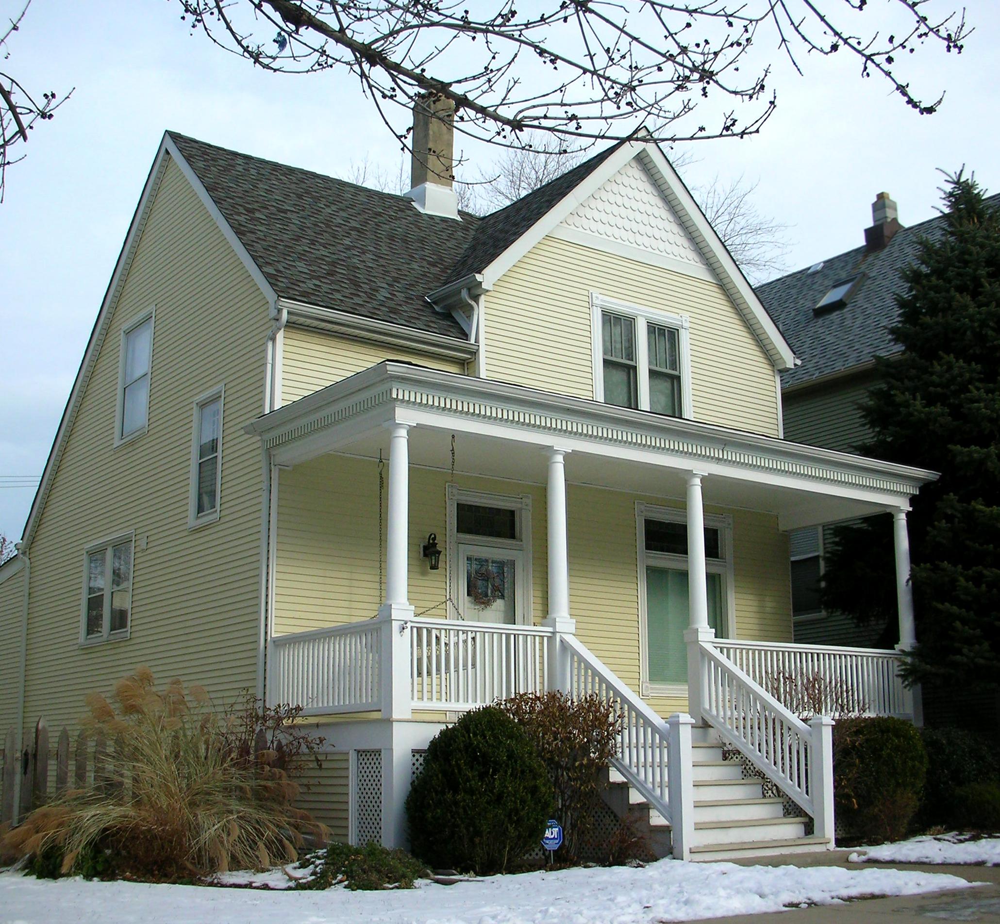 custom residential renovation redesign porch deck, front door, entrance
