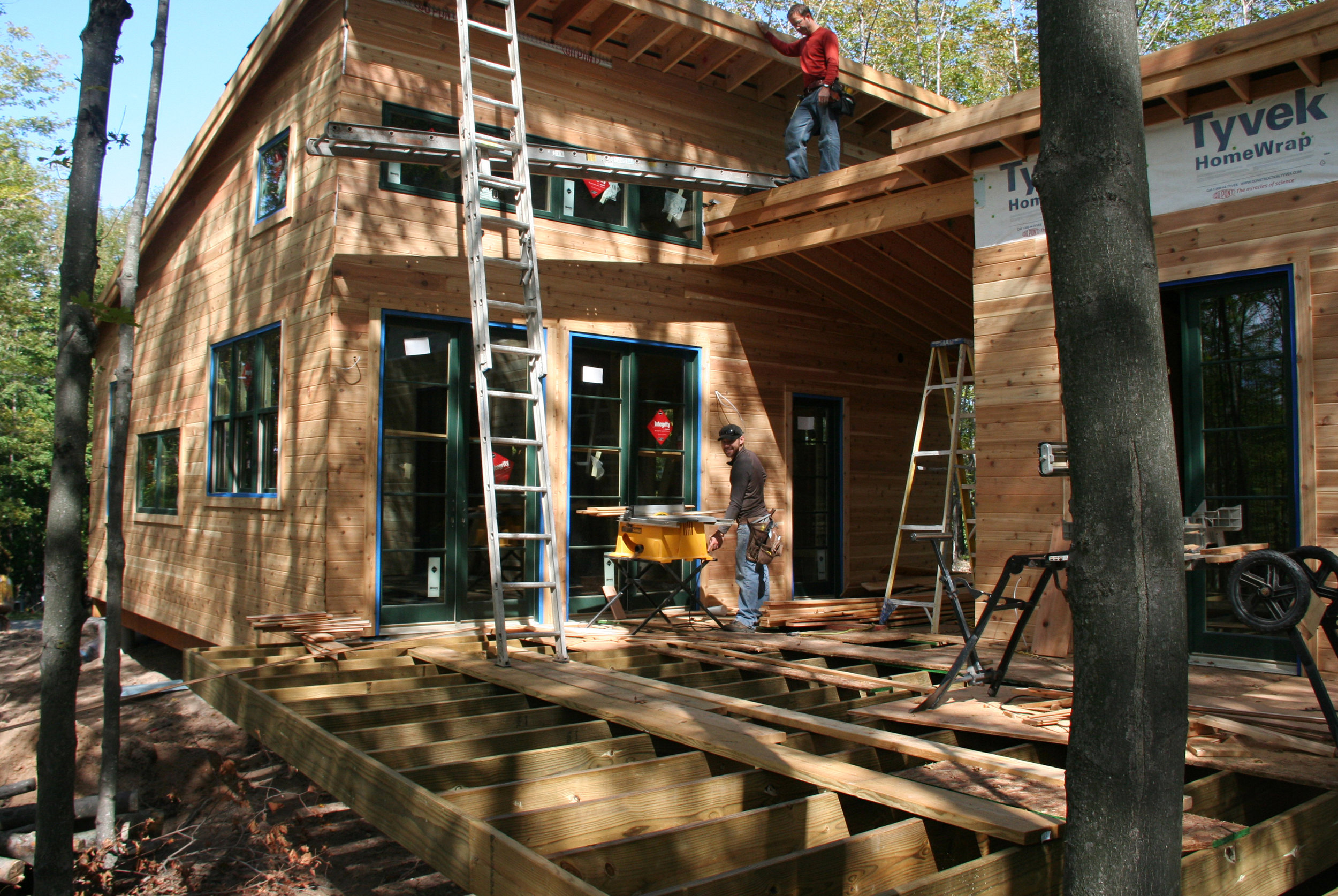 Under construction: 900-sf energy-efficient vacation house