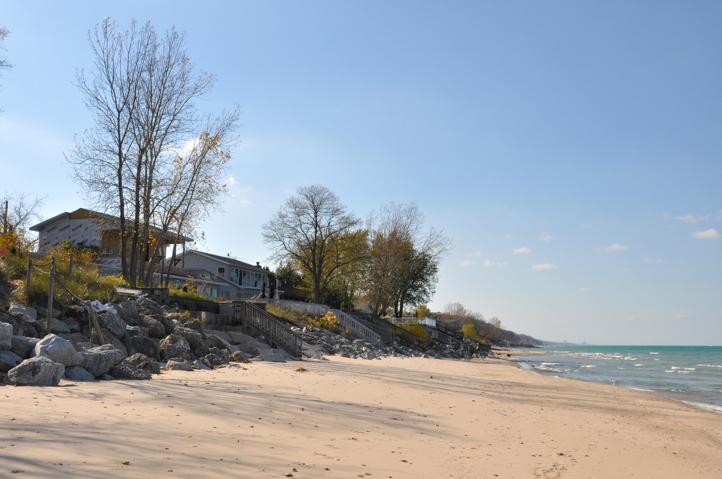 custom single-family residential addition renovation, beach house, lakefront, waterfront, lake michigan