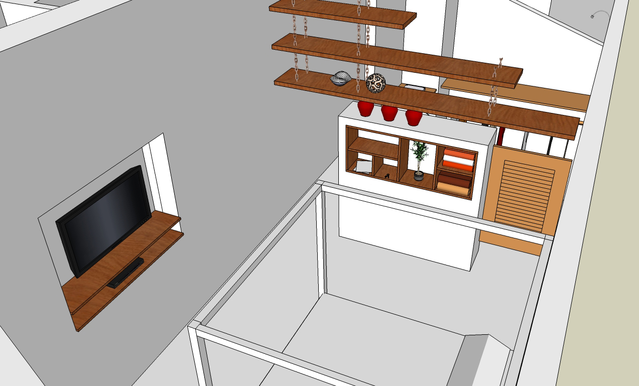 custom single-family residential addition renovation, beach house, lakefront, waterfront, balcony, Google SketchUp Pro, 3D digital rendering model, interior, master bedroom suite, walk-in closet
