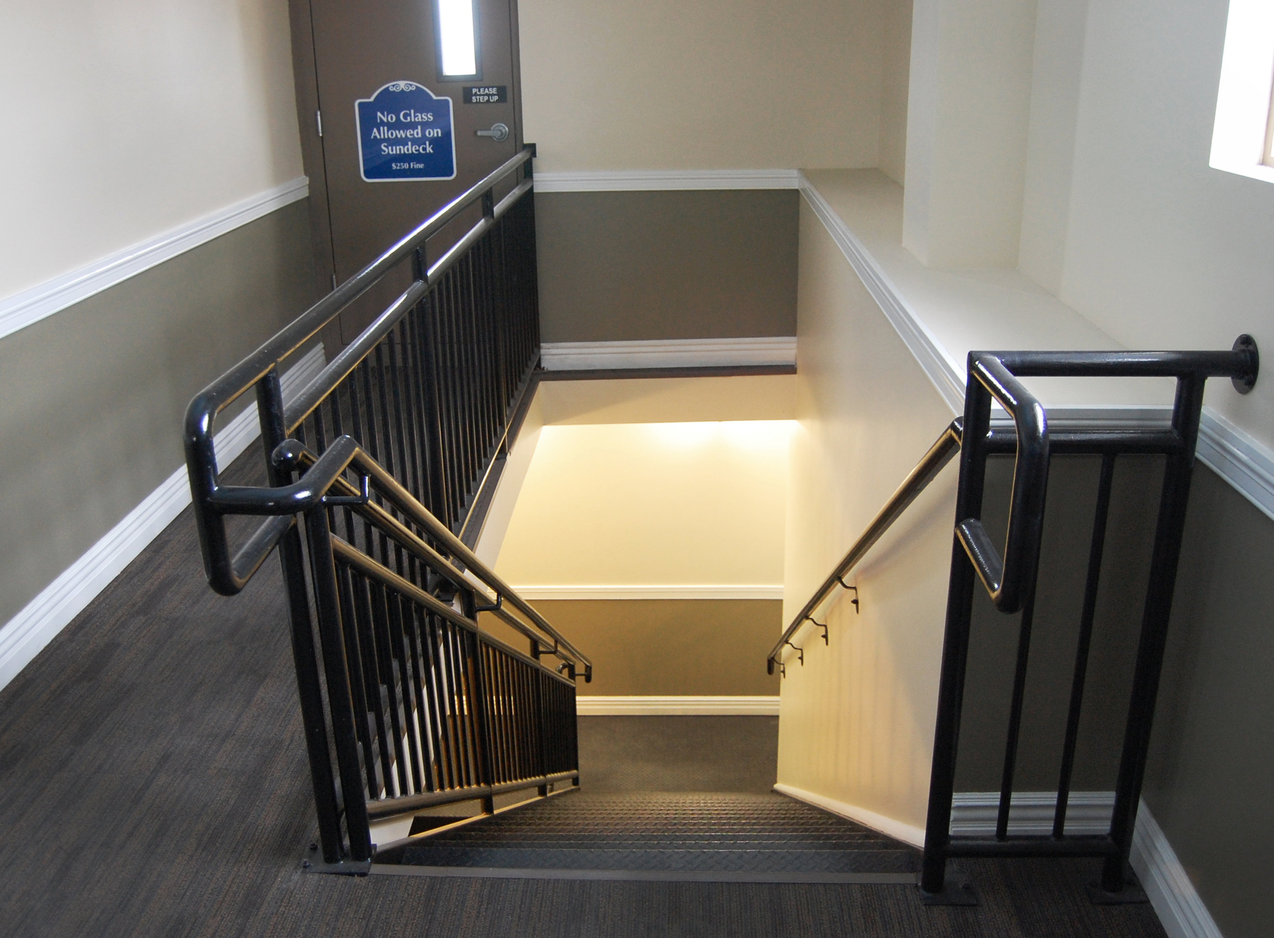 interior high-rise stairway