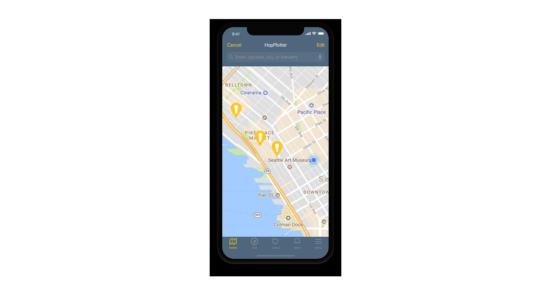 HopPlotter mobile app
