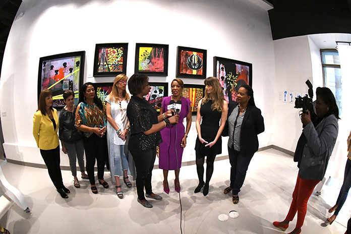 Patricia Minnis, wife of Prime Minister the Hon. Dr. Hubert Minnis, at the opening of a past exhibition at The Current: Baha Mar Art Studios.