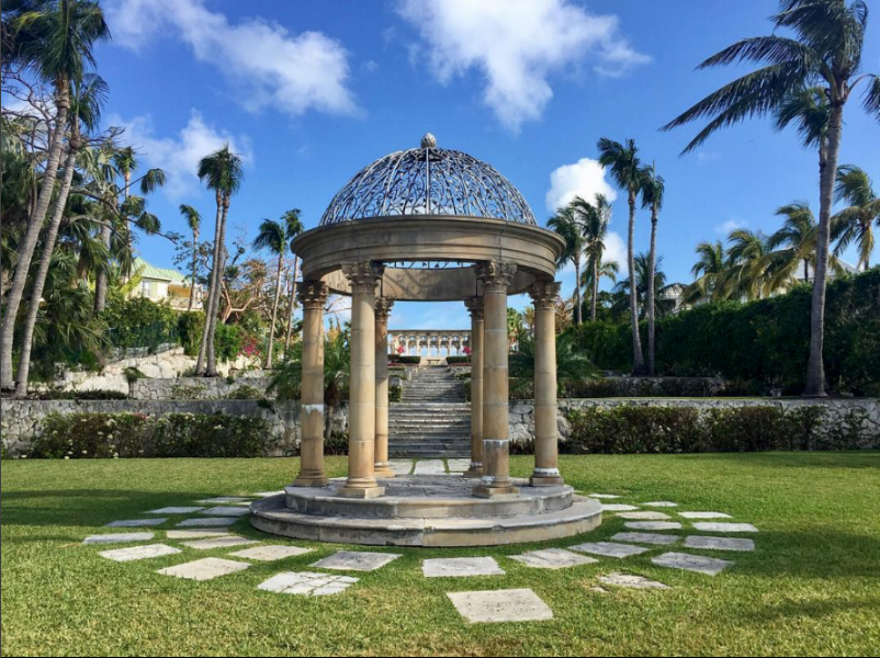 frontal view of The cloisters gardens on paradise island. Photo credit:  margaret thumble .