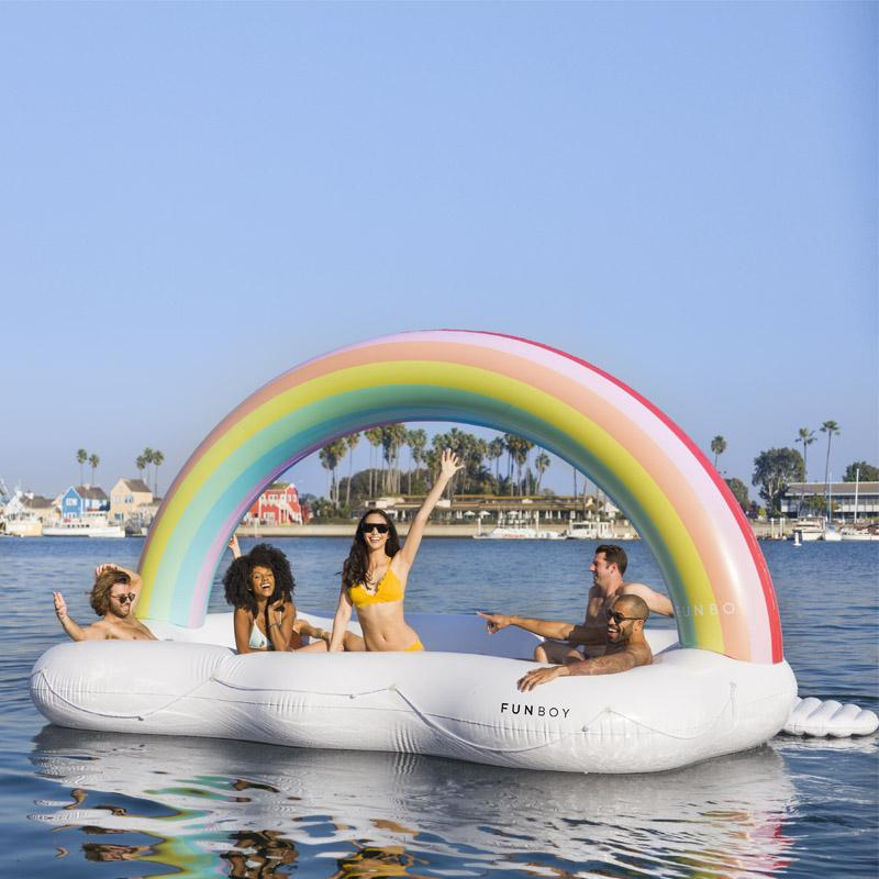 GIANT 6 PERSON RAINBOW CLOUD ISLAND FLOAT by Funboy.jpg