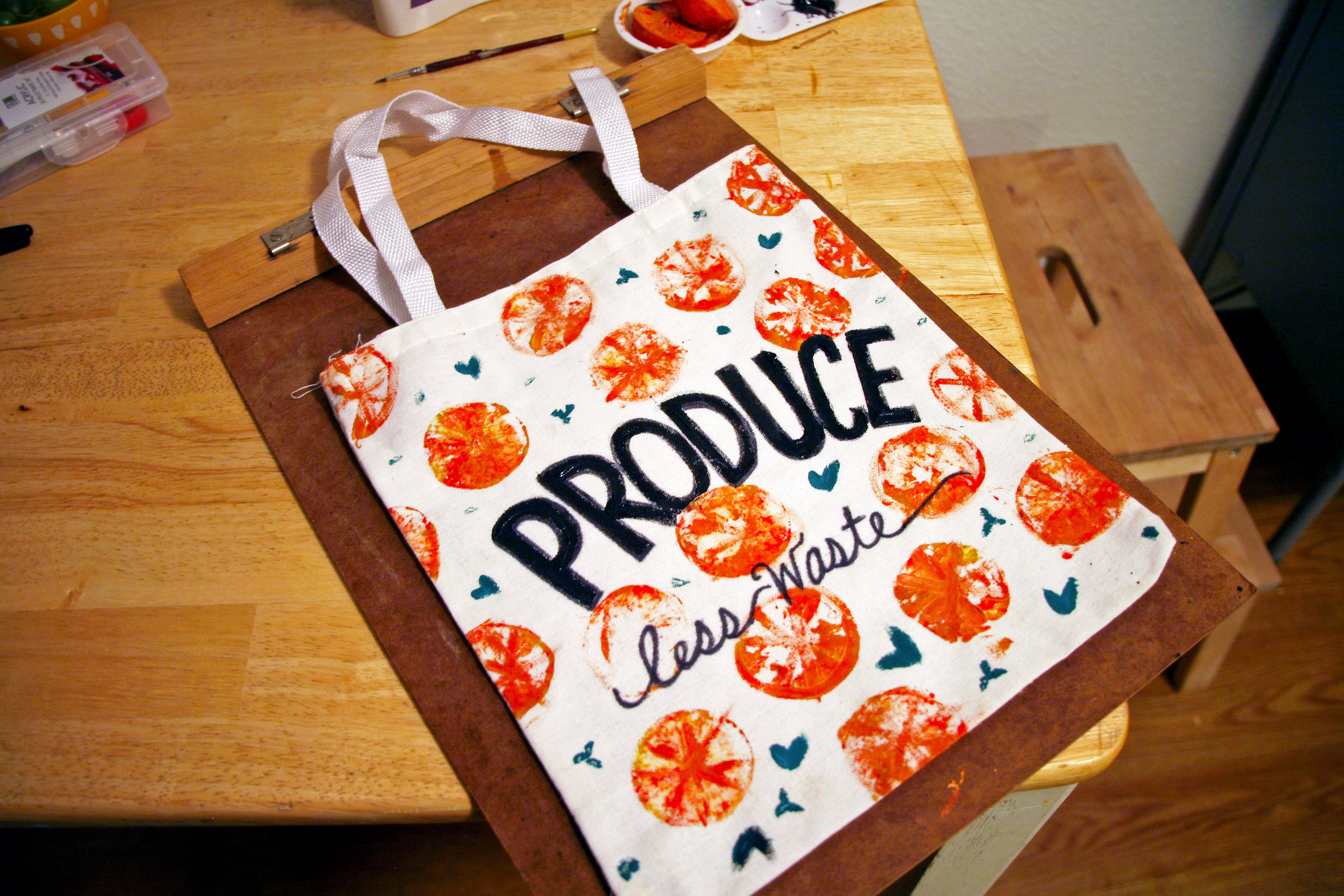 DIY produce bag is a work in progress. I'm also working on designs for full sized bags and bulk bags too!