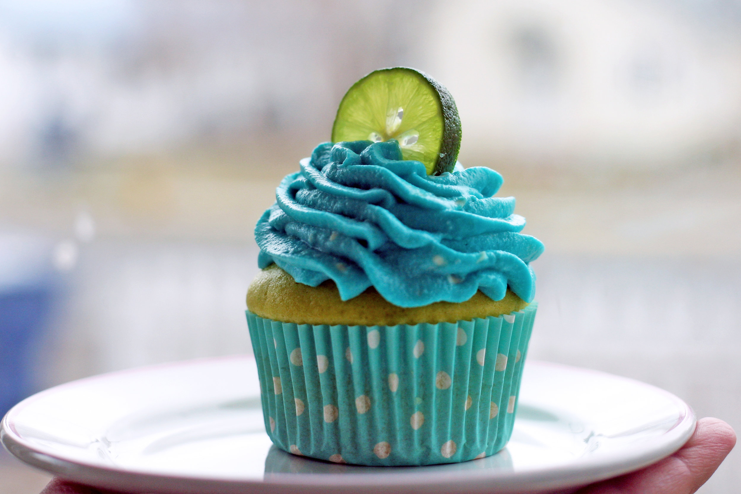 Key Lime Cupcake in all of its earth day color-scheme splendor!