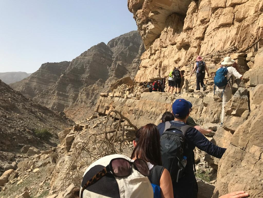 Leopard Canyon - Scramble and climb up a wadi before exploring ancient cave dwellings!Trail Type: Out-and-Back TrailDistance: 6 kmTime: 3 hoursTerrain: Lots of scrambling and exposed ledgesSuitable For: Hikers comfortable with heights, children 9 years and olderCost: 250 AED plus VAT
