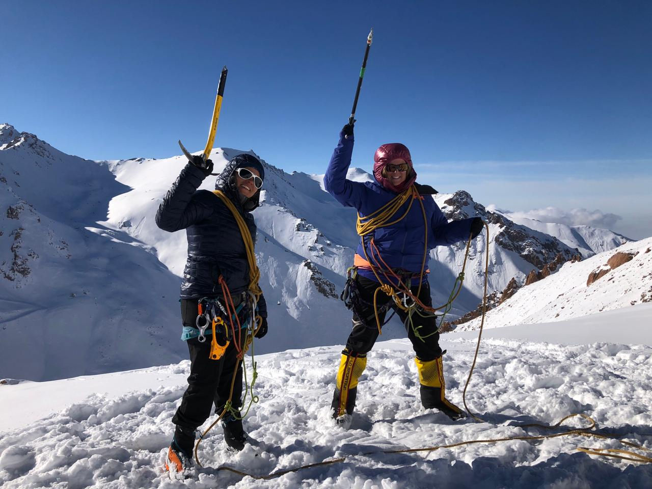 Mountaineering Course - Prepare for mountains like Elbrus or Ararat with us on a summer or winter mountaineering course in Kazakhstan.Trail Type: Out and BackTime: 4 daysTerrain: Snow, cliffs, iceSuitable For: Those wanting to learn mountaineering skills