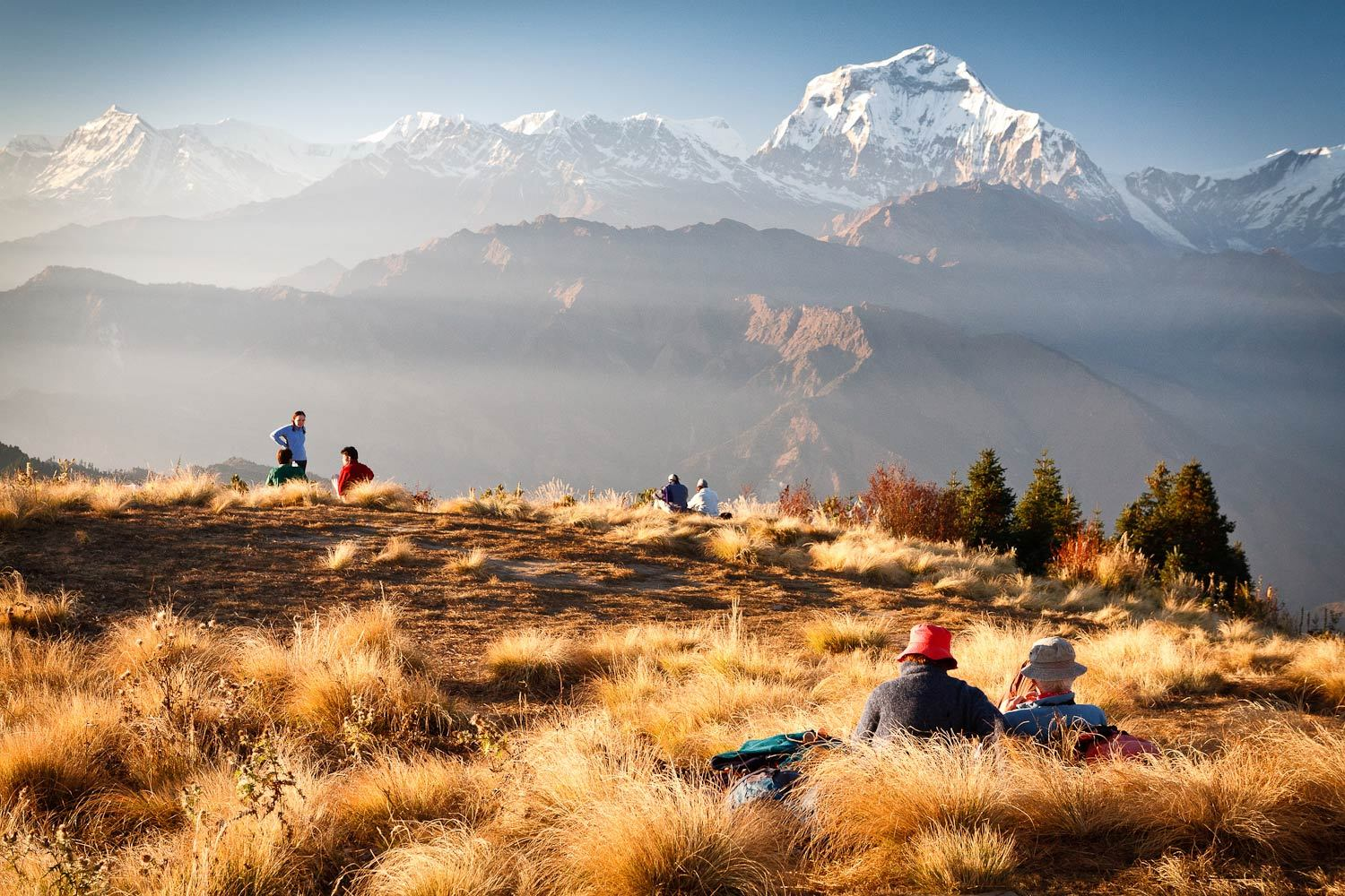Poon Hill - Great beginner multi-day high altitude trek in Nepal.Trail Type: Loop TrailTime: 3 daysTerrain: Well defined paths, stairs, suspension bridgesSuitable For: Fit beginners