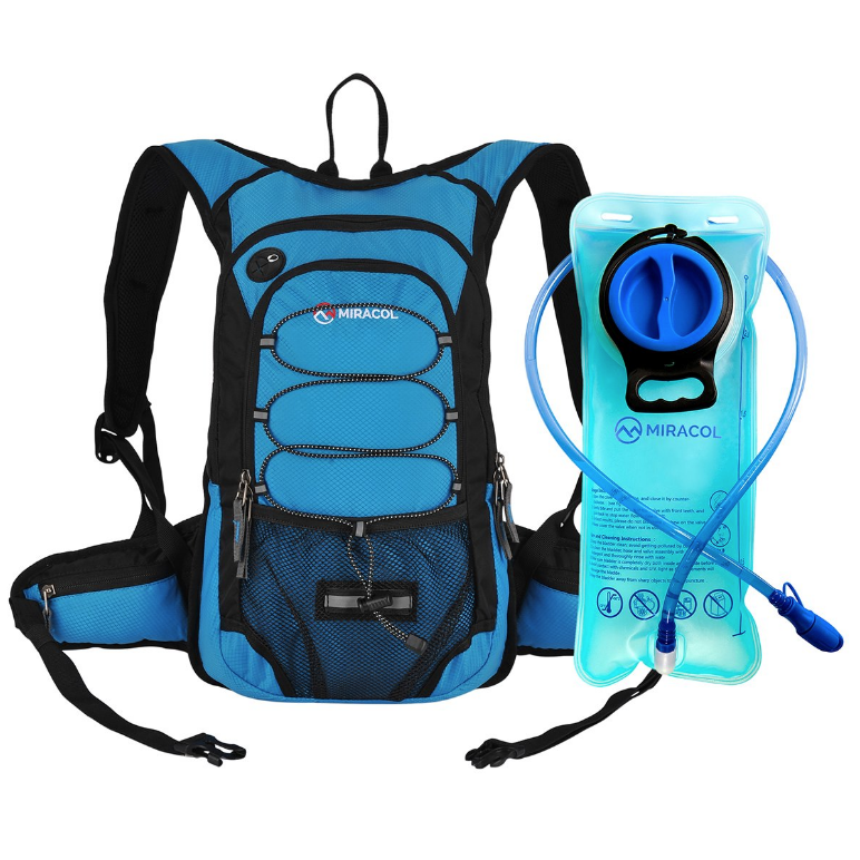 - Backpack with Hydration bladders