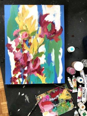 beginnings of one painting