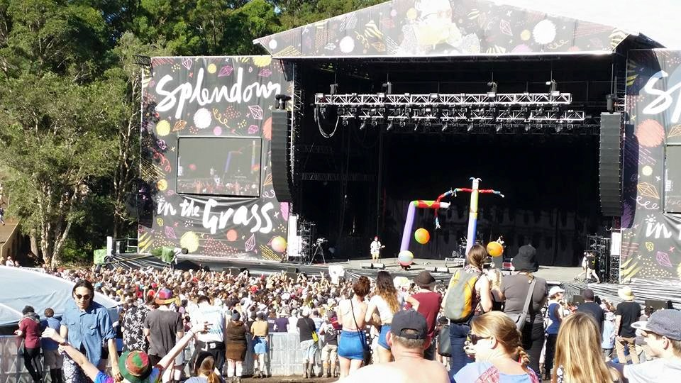 Main stage at Splendor in the Grass, one of the biggest music festivals the country has to offer.