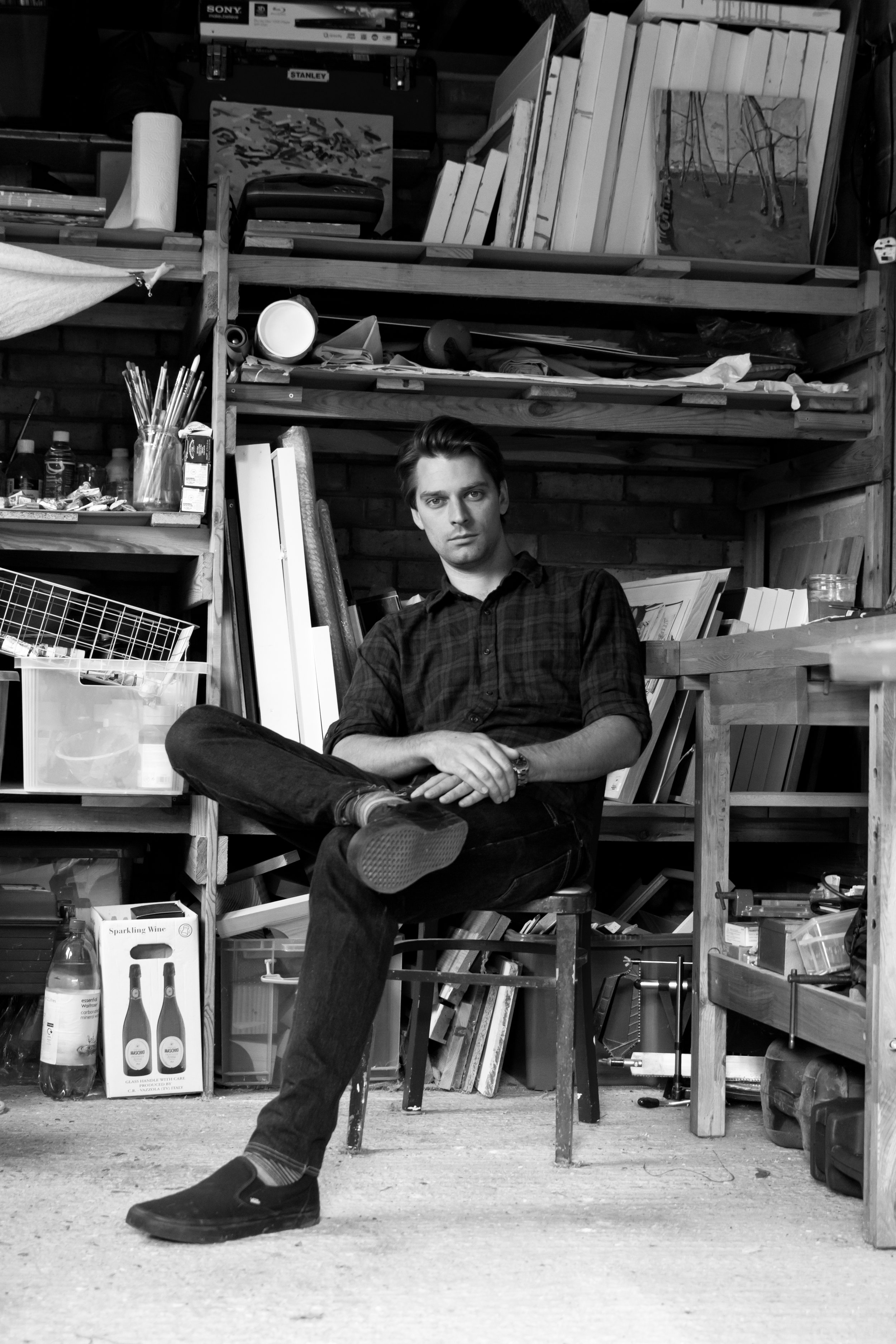 A portrait of the artist in his studio. By Hutch for the EADT.
