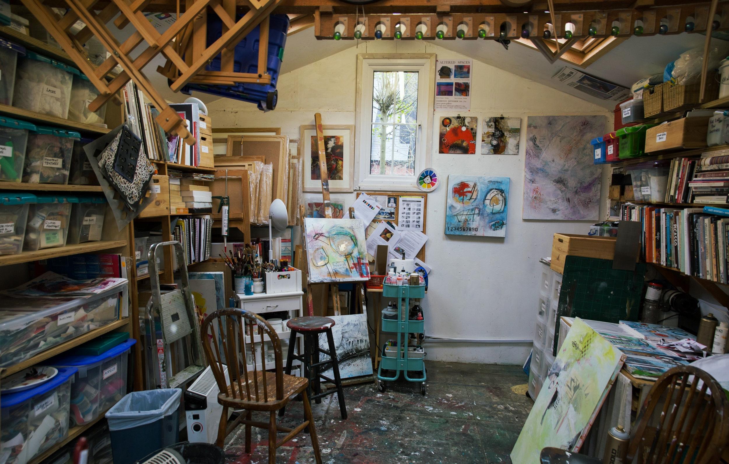 Artist Val Armstrong's Suffolk Studio.