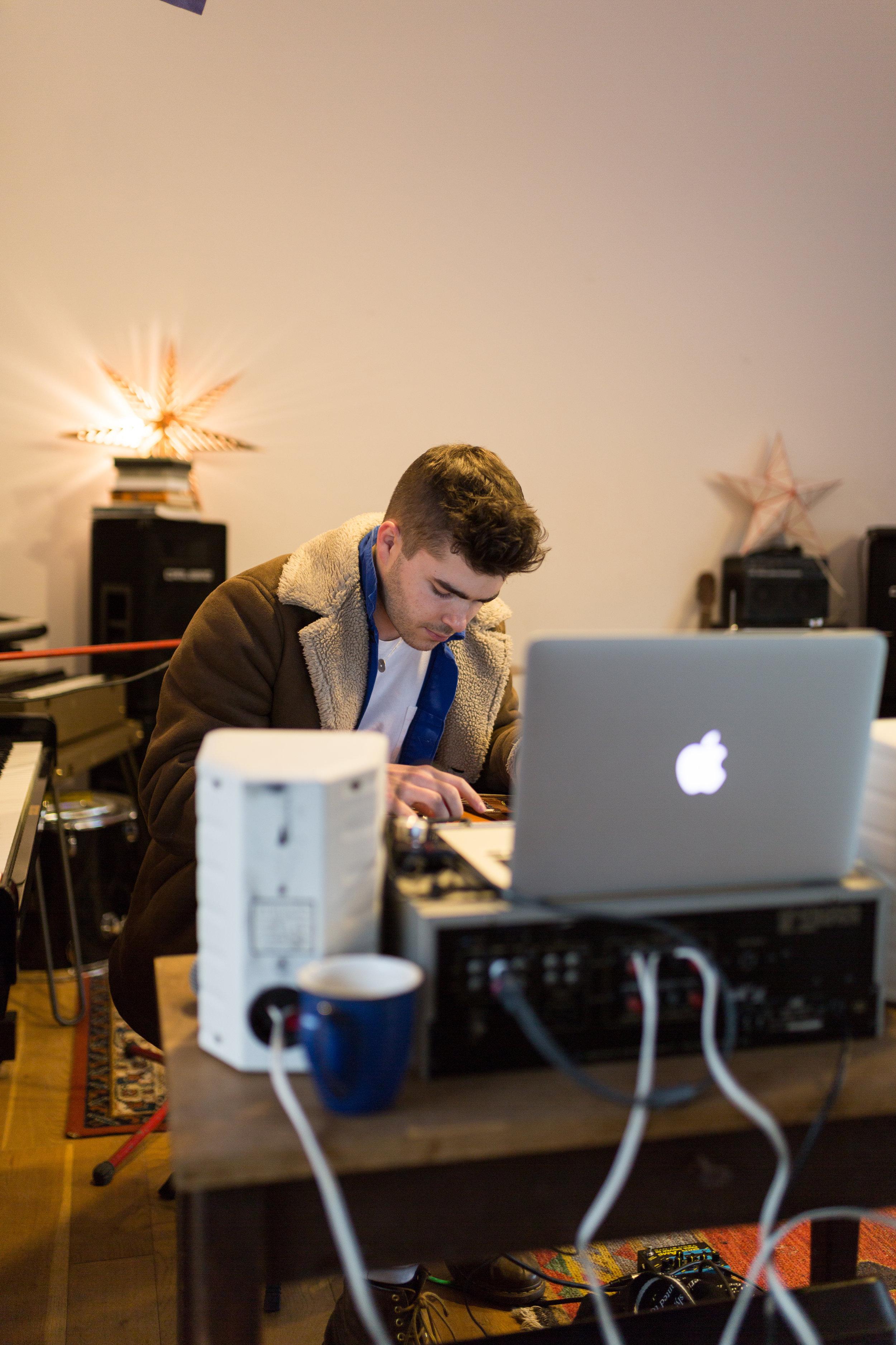 Will in the studio.