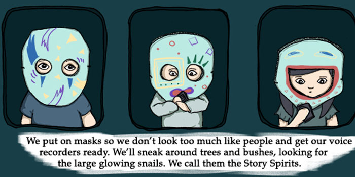 """""""So this was our way of thanking them for the stories - and for not eating us."""""""