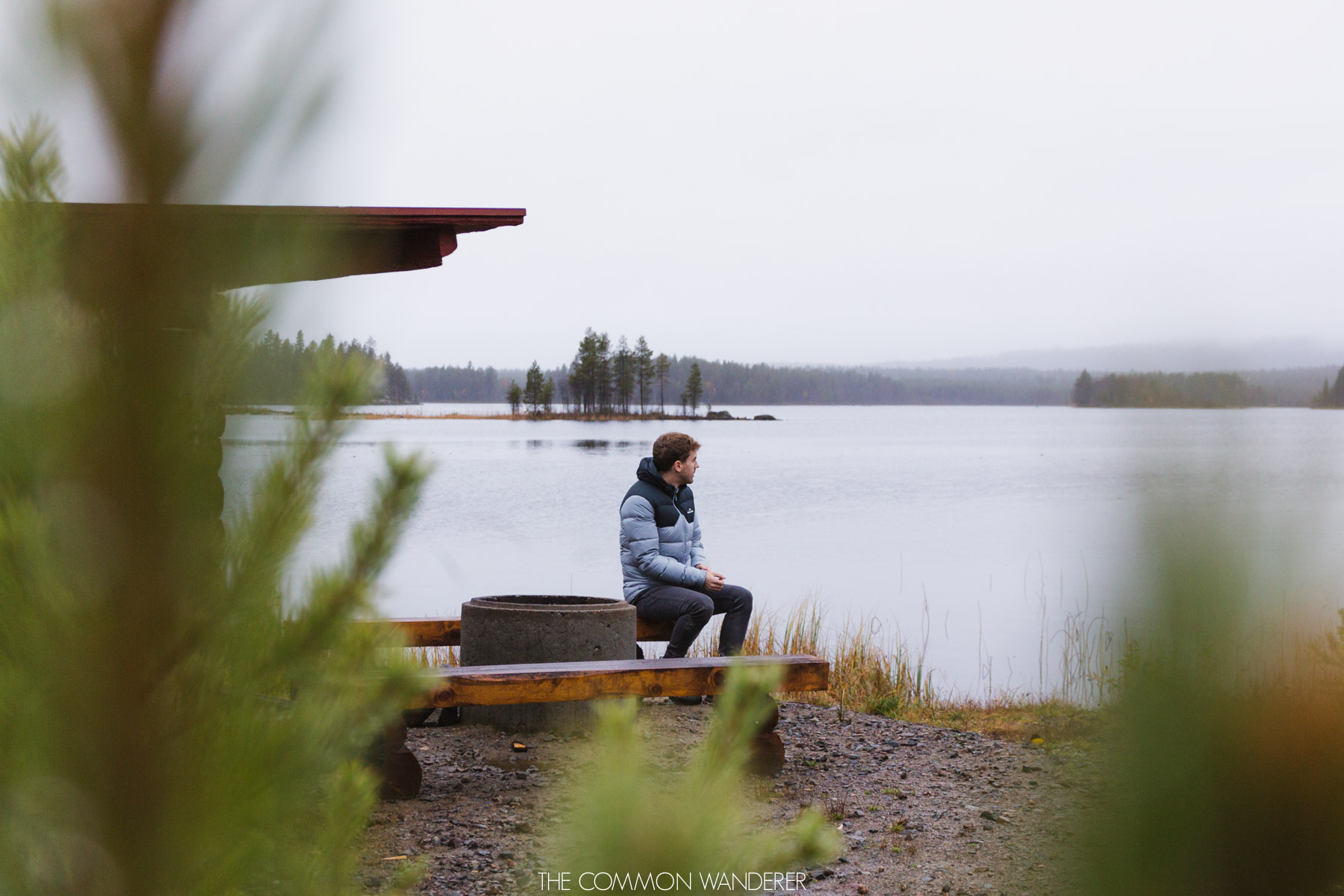The Common Wanderer: Year in review - Swedish Lapland man by lake