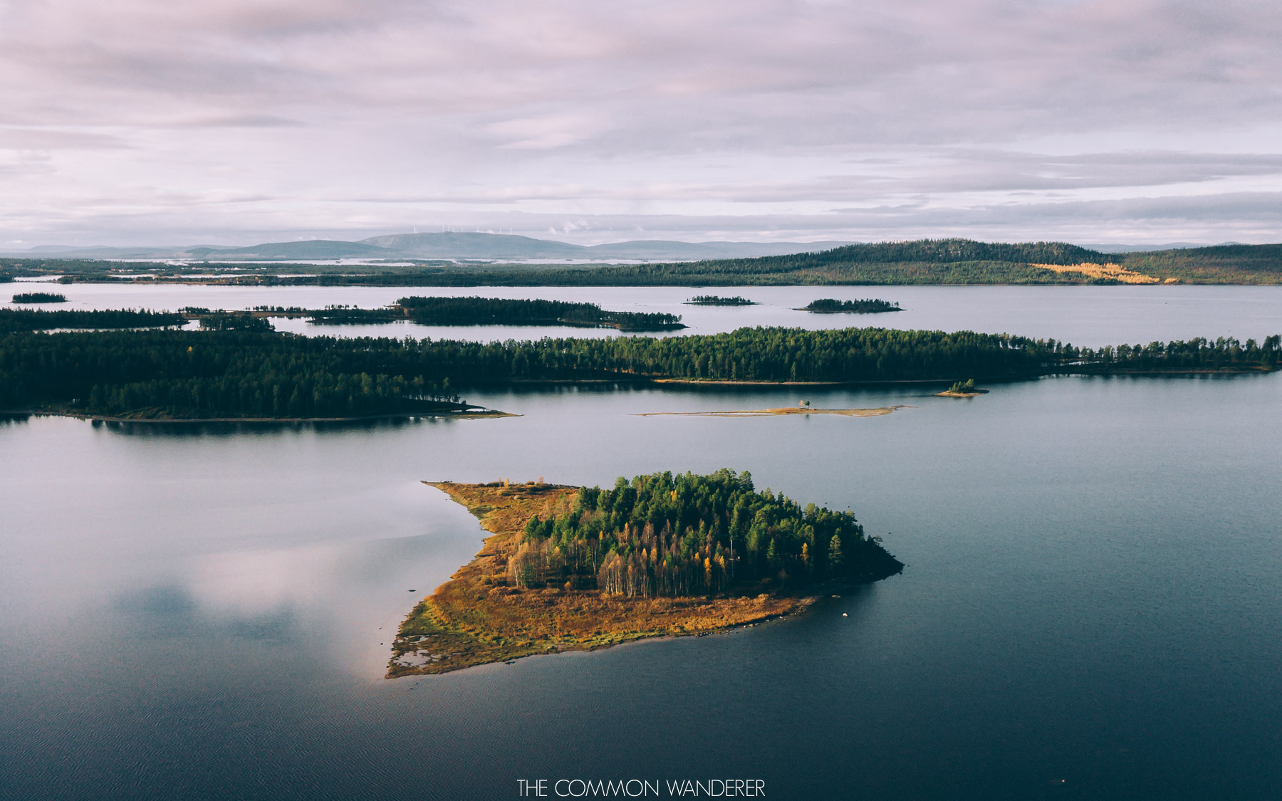 The Common Wanderer: Year in review - Swedish Lapland drone shot over the lakes