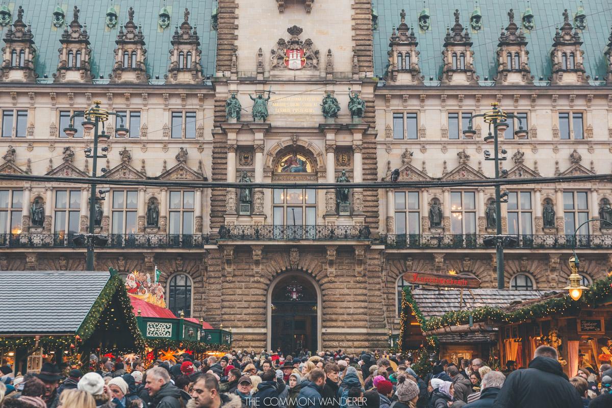 Rathaus weihnachtsmarkt, one of Hamburg Christmas market
