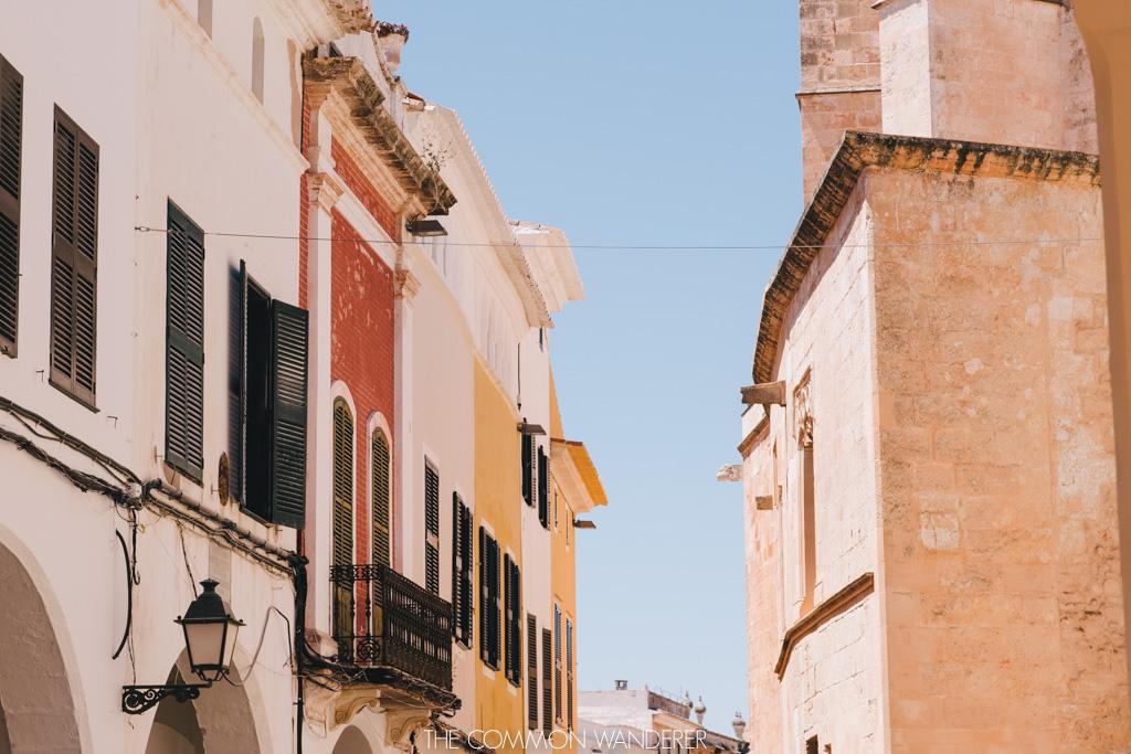 menorca spain - pastel walls in ciutadella