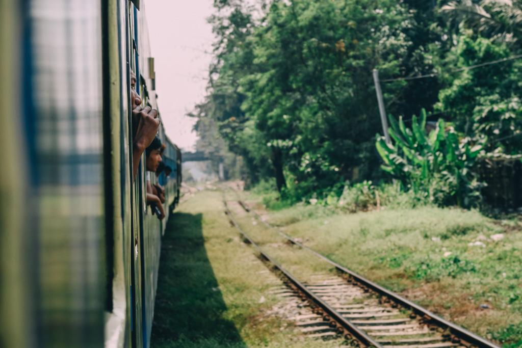Riding the Yangon circle line train in Myanmar