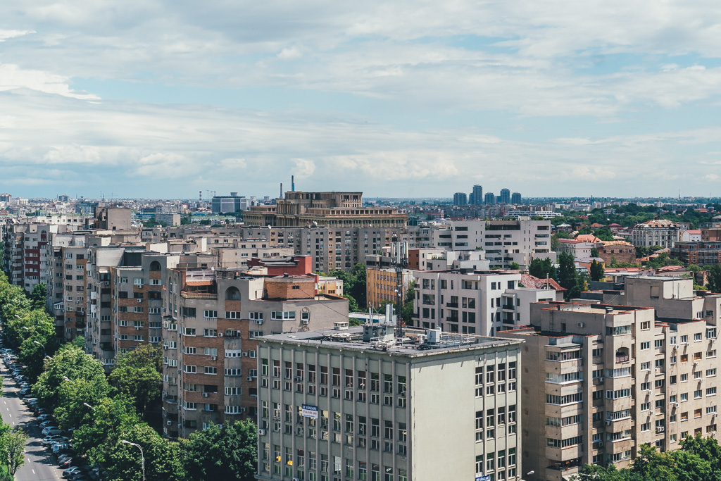 views over Bucharest, Romania