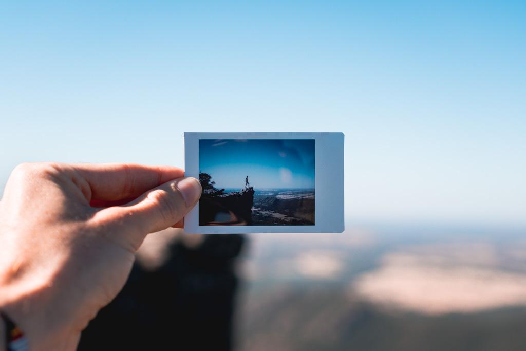 A polaroid of the Pinnacles, the Grampians, Victoria