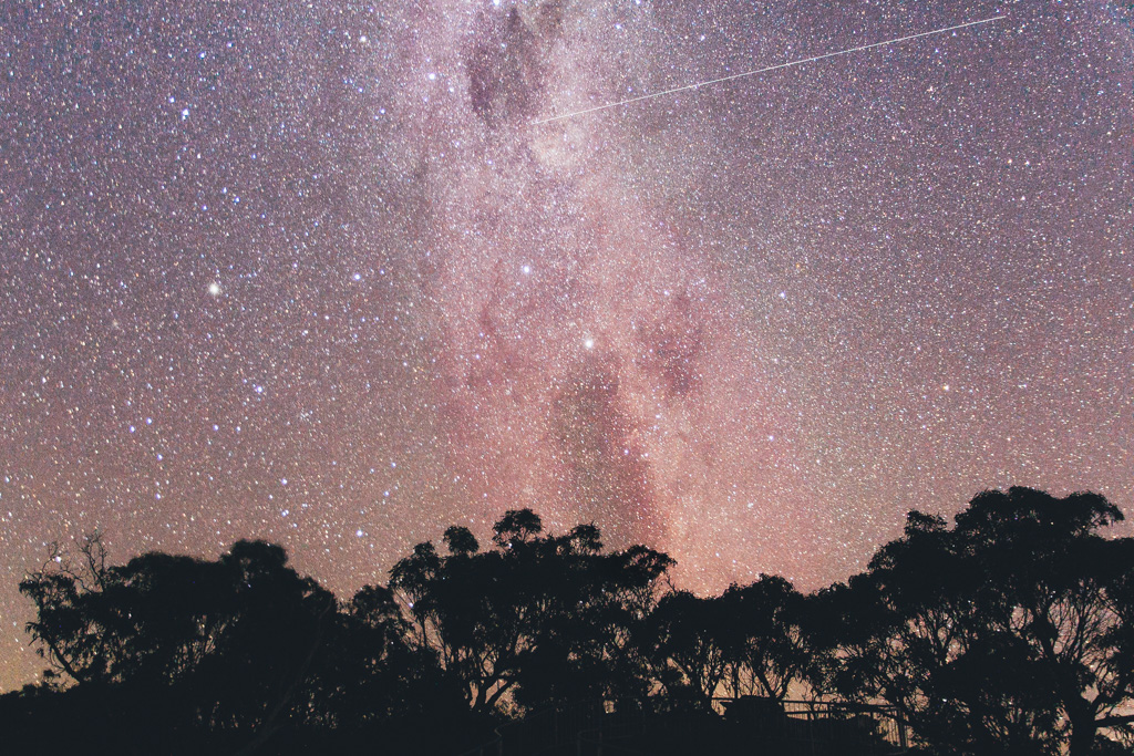 Checking the stars in the Grampians on our road trip through Victoria, Australia