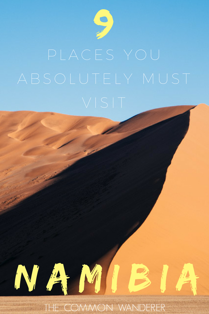 Here are the 9 best places to visit in Namibia, the wild, dramatic, vast and breathtakingly beautiful south west African tourism hotspot.