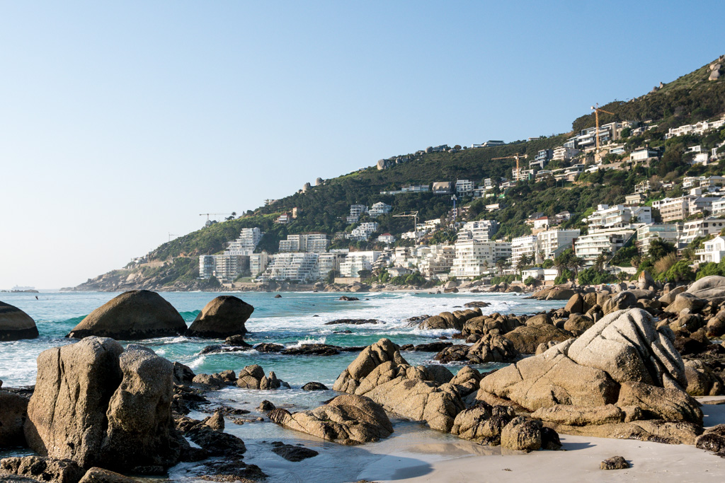 Clifton beach in the city of Cape Town