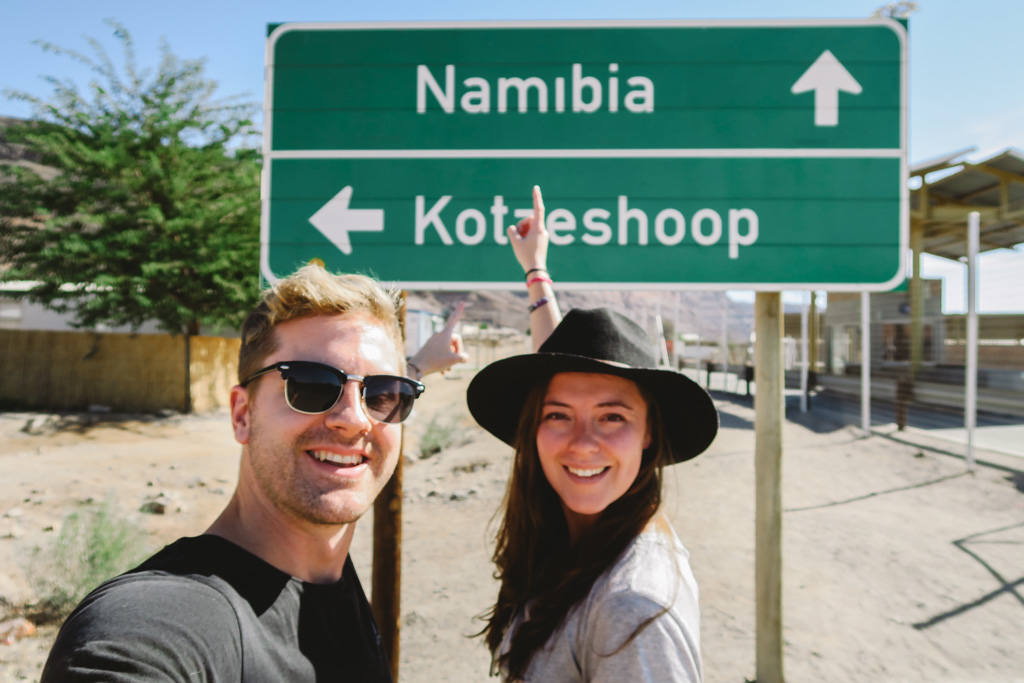 Namibian border crossing - travelling with your partner