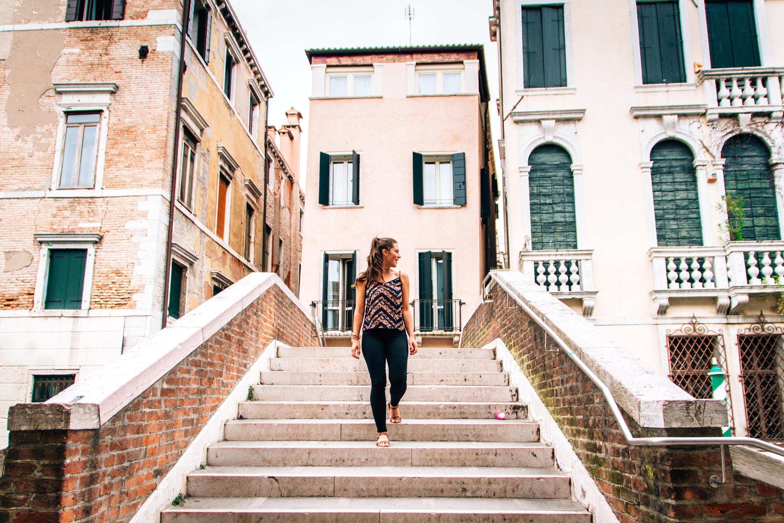 Walking around Venice on a budget