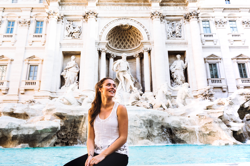 The Common Wanderer - Miranda in front of Trevi Fountain.jpg