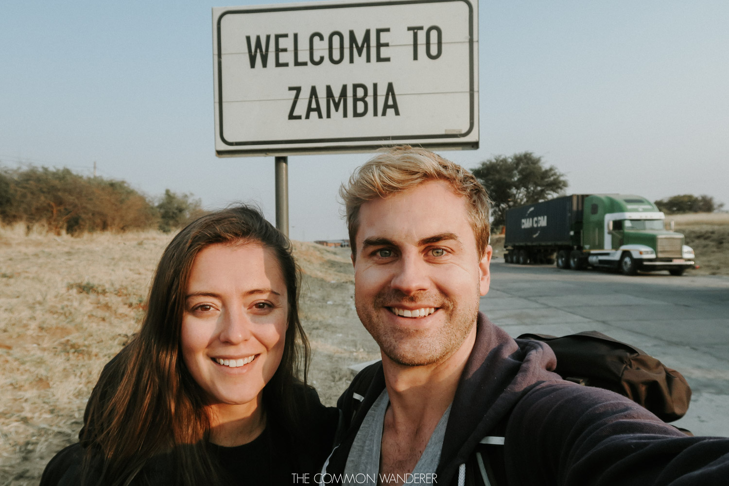 The Common Wanderer - Crossing the Namibian border into Zambia