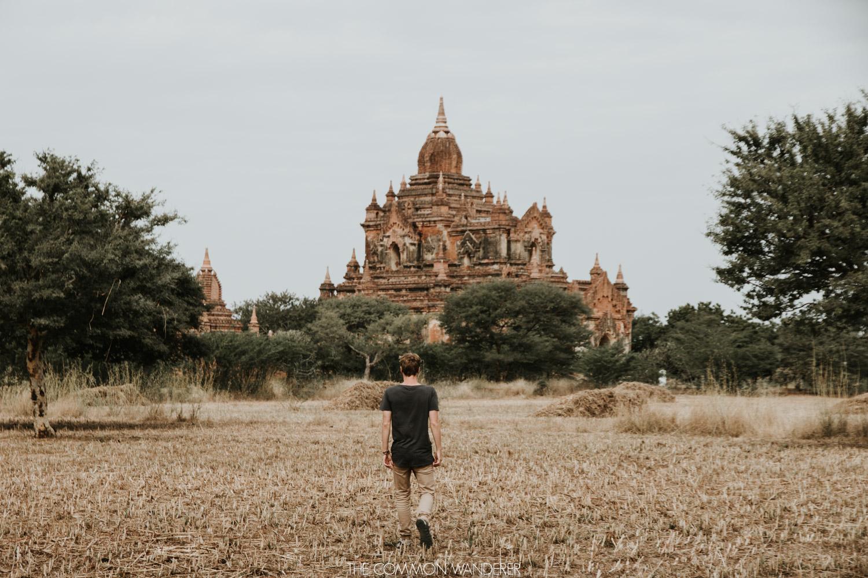 Sun rises over temples in Bagan, Myanmar