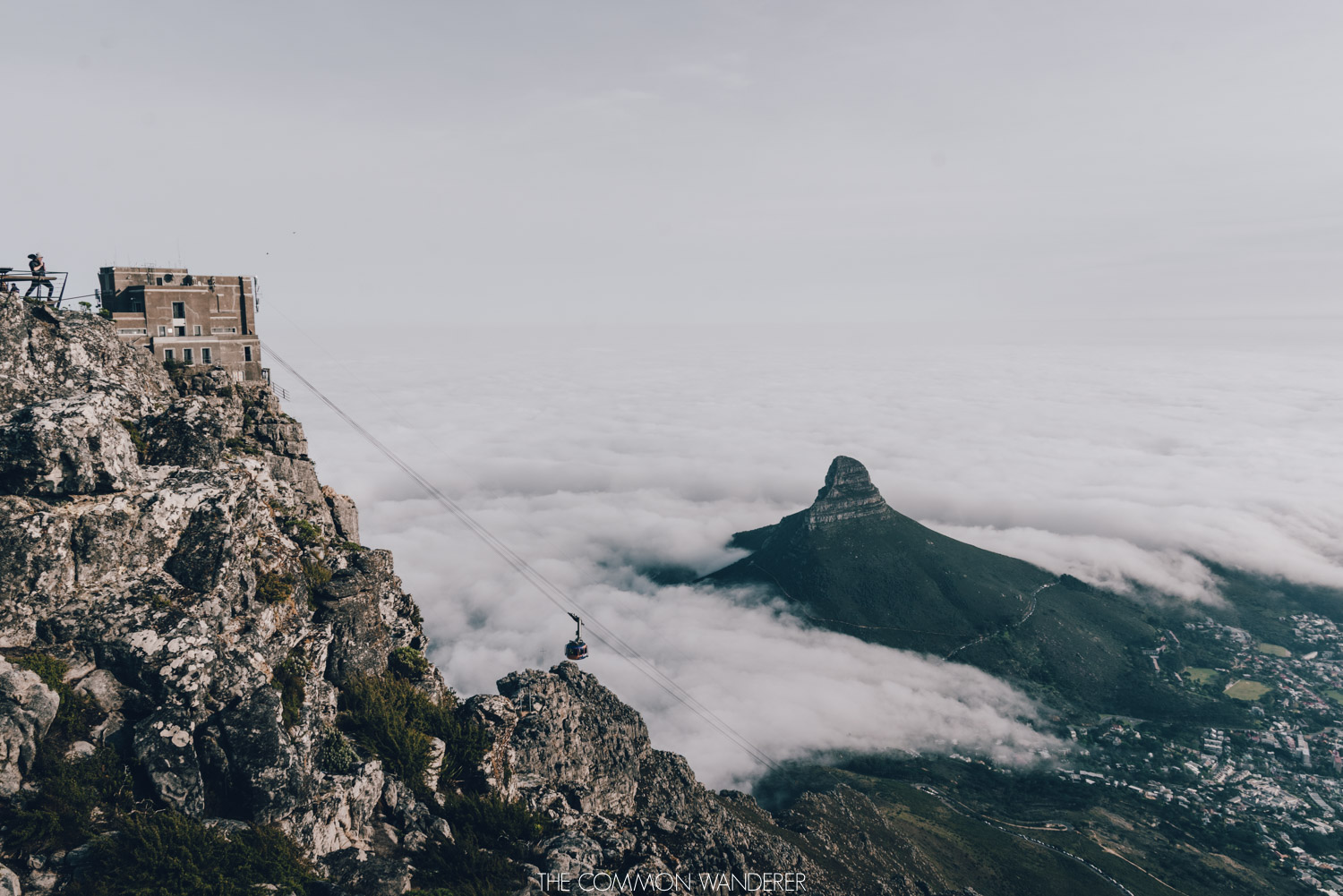 The view onto Cape Town from Table Mountain, South Africa