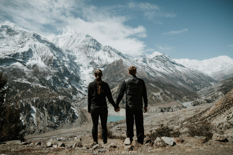 Mark and Miranda overlooking Manang - Annapurna