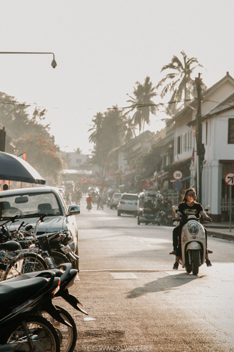 The Common Wanderer top 5 most photogenic destinations in Southeast Asia Luang Prabang golden hour on the streets