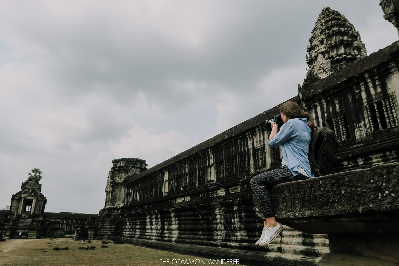 Cambodia photo diary - girl photographing Angkor Wat