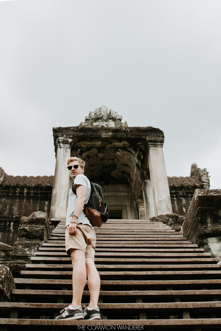 Cambodia photo diary man exploring angkor wat