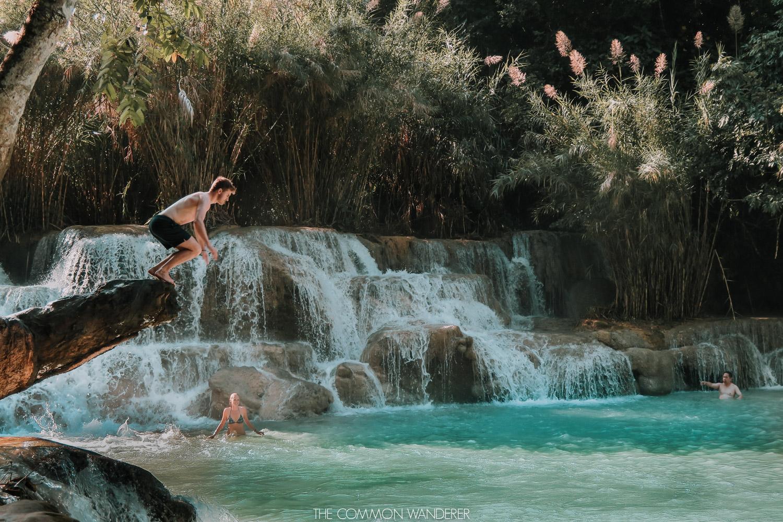 Where to visit in Laos - kuang si falls luang prabang