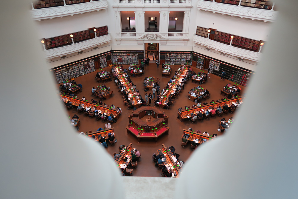 Melbourne on a budget - state library