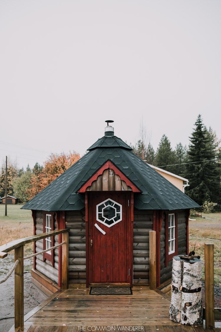 Sauna at Pjesker Adventures Swedish Lapland