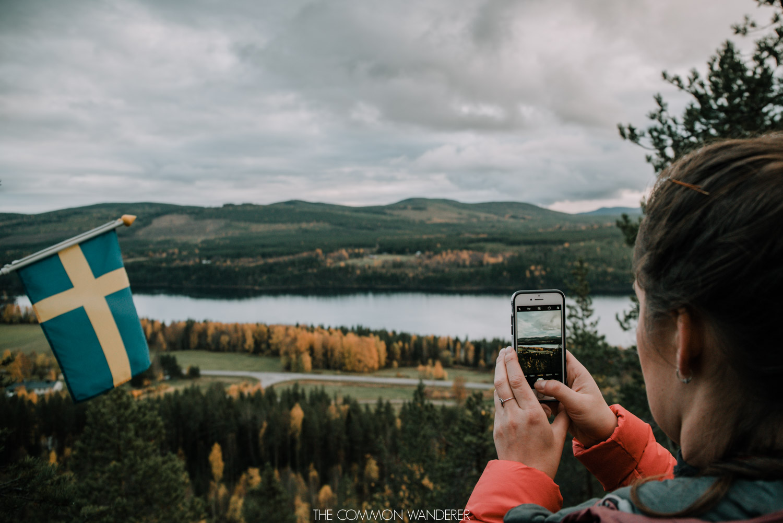 Views over Storforsen, Swedish Lapland