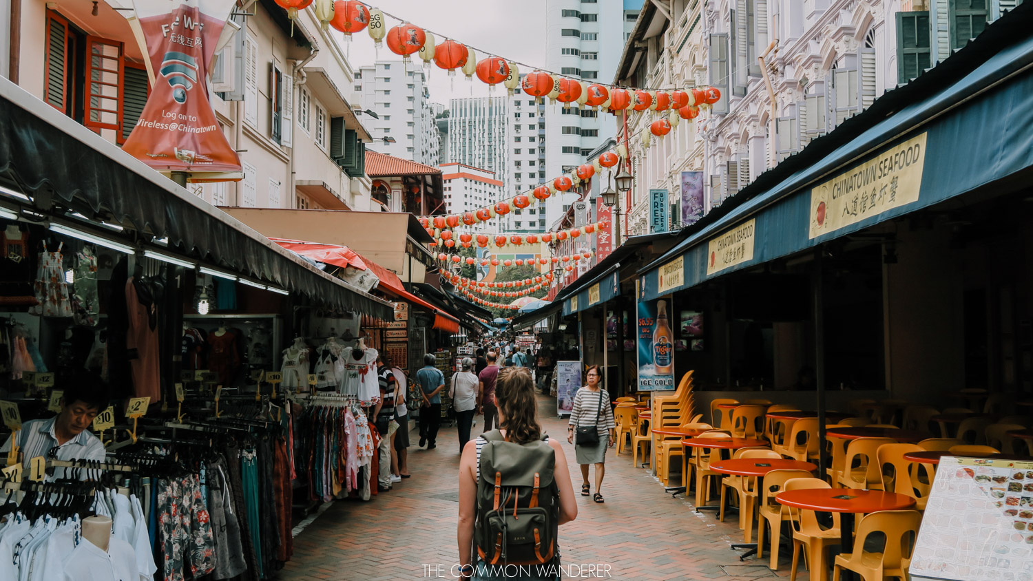 A woman exploring Chinatown, Singapore