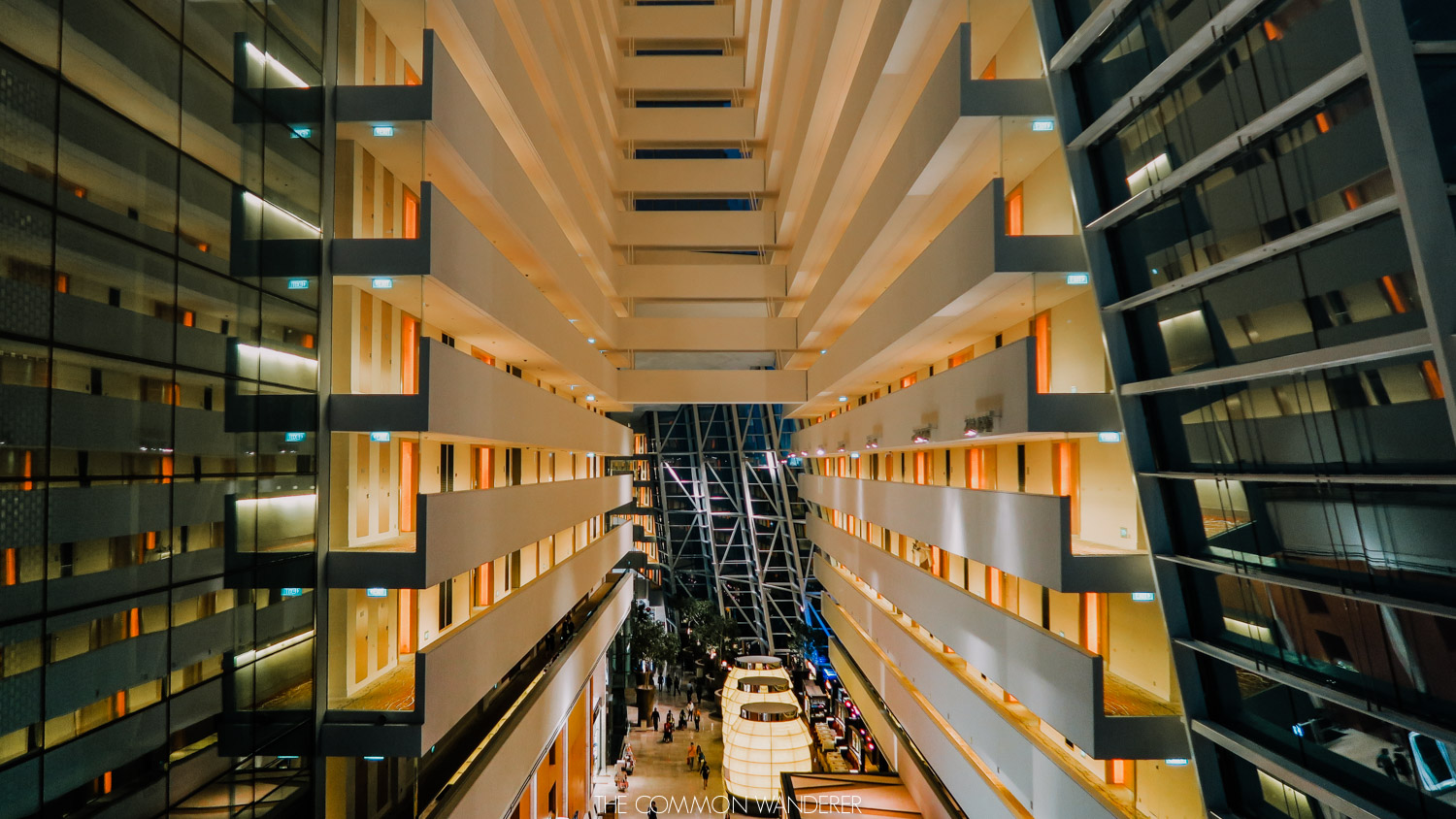 the interior of Marina Bay sands hotel Singapore