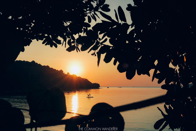sunset on koh ta kiev cambodia